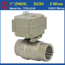 "DC5V 2 Wires 1""  (DN25) Electric control Valve With Manual Override Metal Gear High Quality Valve For Water Application"