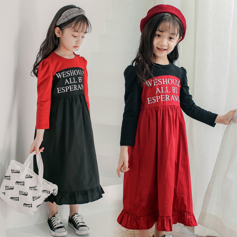 Fall Dress Girl Autumn Long Sleeve Casual Letter Ruffles Kids Dresses 2018 New Fashion Fall Baby Girl Clothes 6 8 10 12 13 Years letter print long sleeve sweatshirt dress page 8