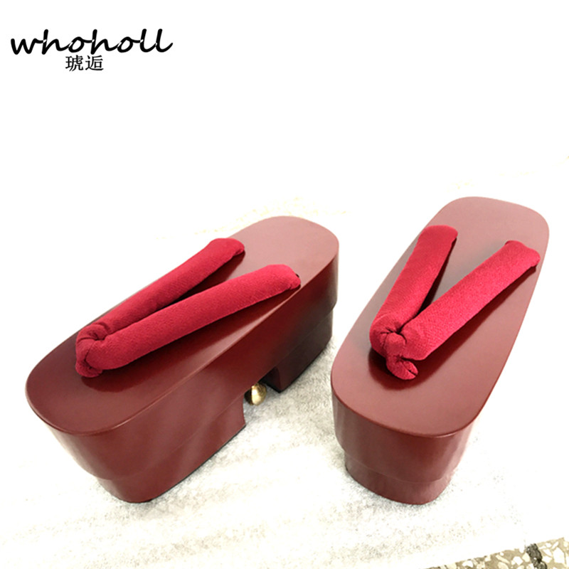 WHOHOLL Geta Summer Sandals Women Cos Geisha Clogs platform Shoe Flip flops for Female Japanese Geta Anime Sandals and Slippers in Women 39 s Sandals from Shoes