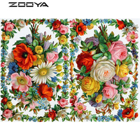 ZOOYA 3D DIY Diamond Embroidery Painting Cross Stitch Mosaic Flower Christmas Decorations For Home Canvas Print