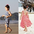 1PC Kid Girl Summer One Piece Beach Dress Stripe Sundress Dress Clothes 3-8Y