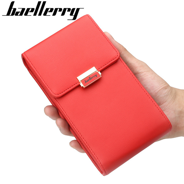 a255baaf21de Baellerry Women Shoulder Bag Leather Female Mini Crossbody Bags Lady Wallet  Purse Messenger Bag Handbag Small Travel Phone Pouch-in Shoulder Bags from  ...