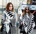 Za inverno 2016 novos chegada da alta qualidade geométrica scarf 140*140 cm frete grátis moda e quente