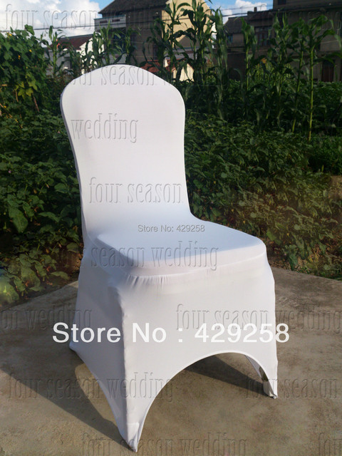 spandex chair covers canada best for guitar russian usa shipping 100pcs white lycra cover wedding banquet hotel