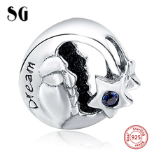 Silver Galaxy Star & Dream Blue CZ Beads For Women Fit pandora Bracelet Charms Silver 925 Original Fashion DIY Jewelry Gifts new collection good gifts noble blue silver charms series 925 real silver charms bracelet for girlfriend
