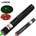 LOMOM G303 Powerful Green Laser Pointer Waterproof Red Laser Flashlight Adjustable Focal Length and Star Pattern Filter