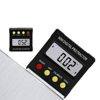 Mini inclinómetro Digital del transportador de 360 grados caja de nivel electrónico medidor magnético del buscador del ángulo del LCD|Transportadores| |  -
