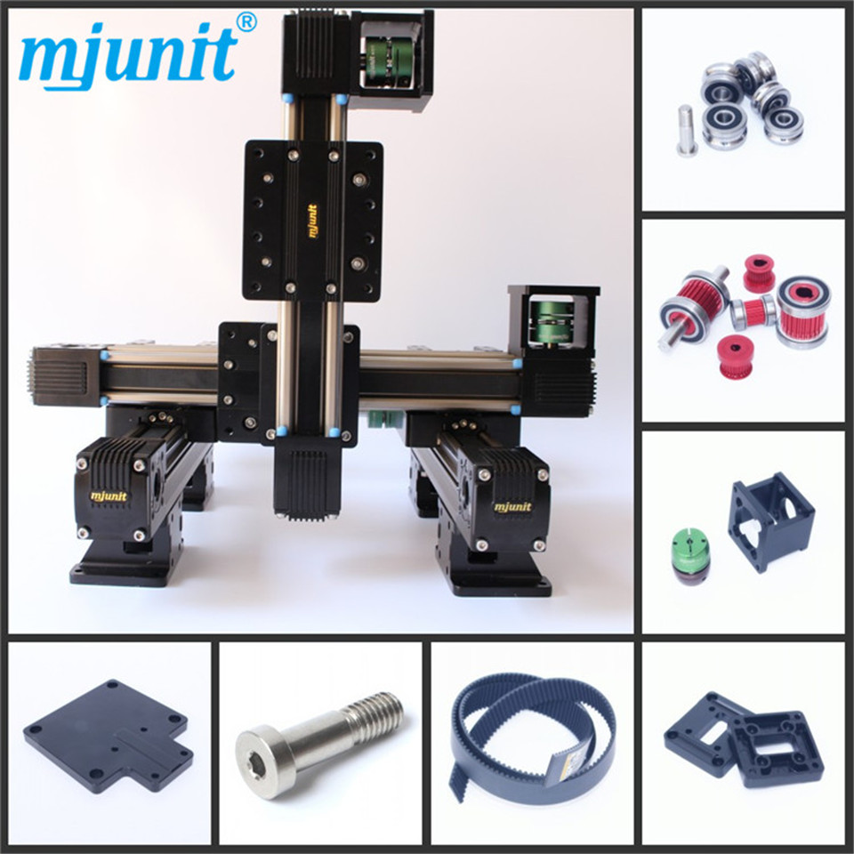 toothed belt drive rail manufacturer 24vdc actuator linear motion slider Motorized XYZ axis Nema 17 23 high speed guideway professional manufacturer of linear actuator system axes position linear guide way linear rail