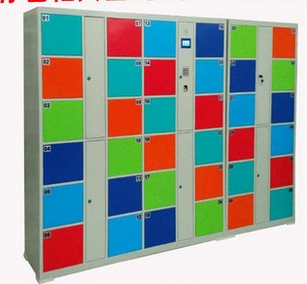 24 36 48 Doors Shopping Mall ID Ic Card Identification Coin Type Bar Code Fingerprint Face Recognition Storage Cabinet