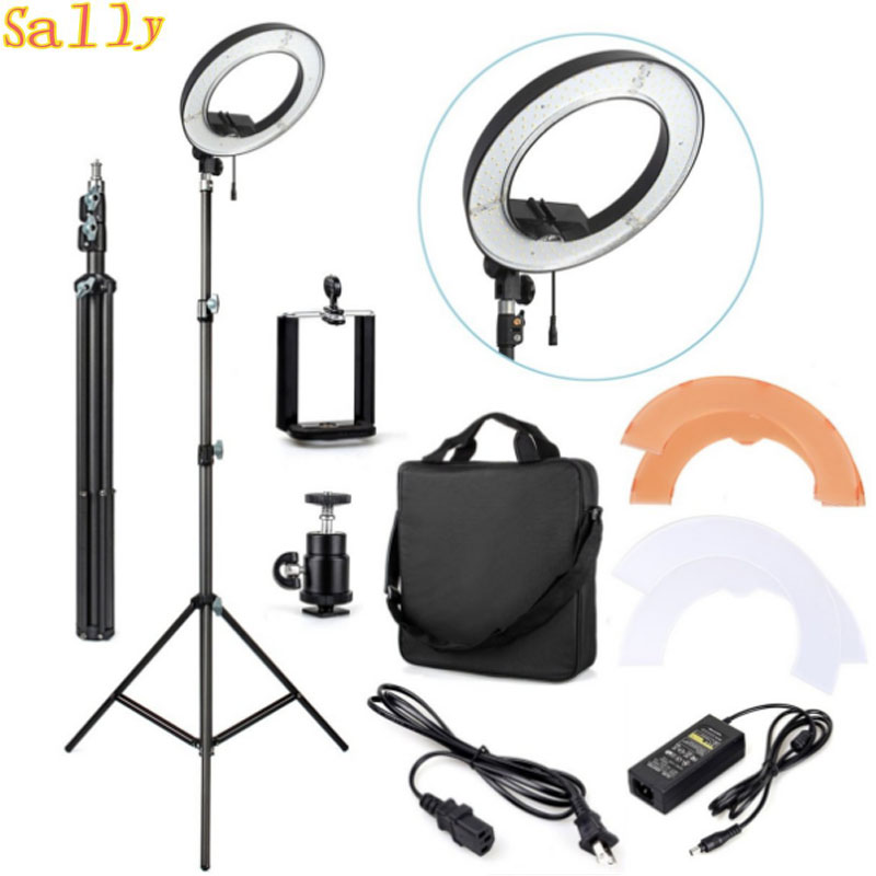 ES240 240 LED 18 Stepless Adjustable Ring Light Camera Photo Video 240pcs LED 5500K Dimmable 2