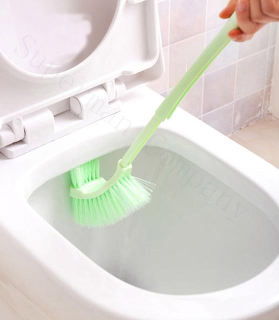 Long Handle Brush Soft Toilet No Dead Scrub Clean Seat
