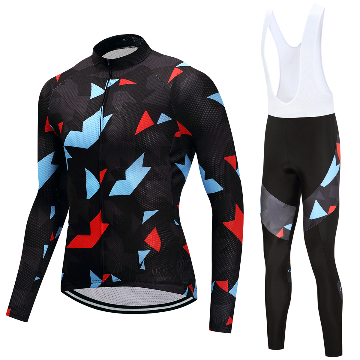FUALRNY 2018 New Long Sleeve Cycling Jerseys Set Bicycle Suit Mountain Bike Quick Dry Breathable Riding Jersey Clothing Sets Man