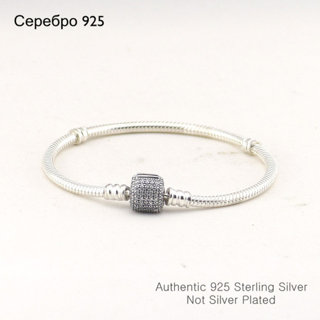 Cilindro forma jóias na moda pulseiras de prata com cz 100% 925 sterling silver charm pulseiras para as mulheres por atacado diy