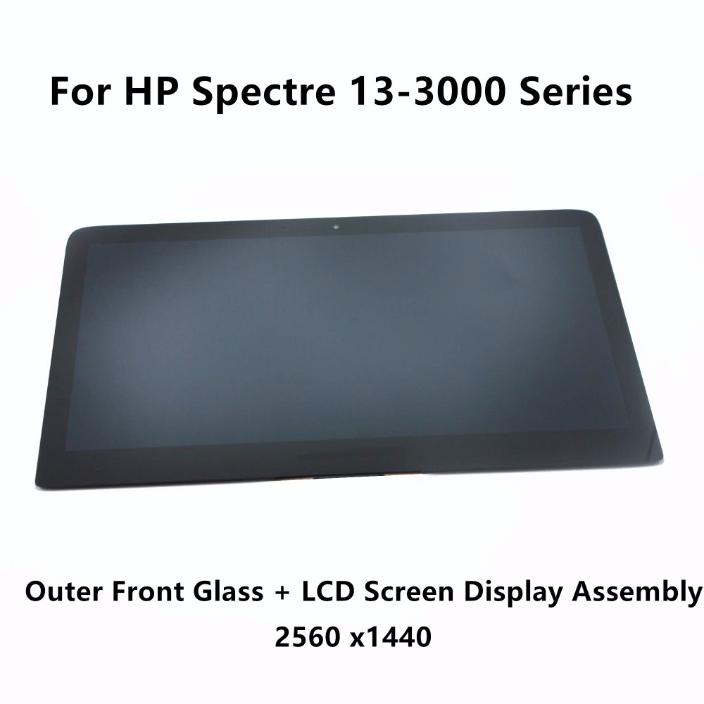 13.3Outer Front Glass LCD Screen Display Assembly LP133QH1 SPA1 N133HSE EB3 For HP Spectre 13-3000 Series Non Touch 2560 x1440