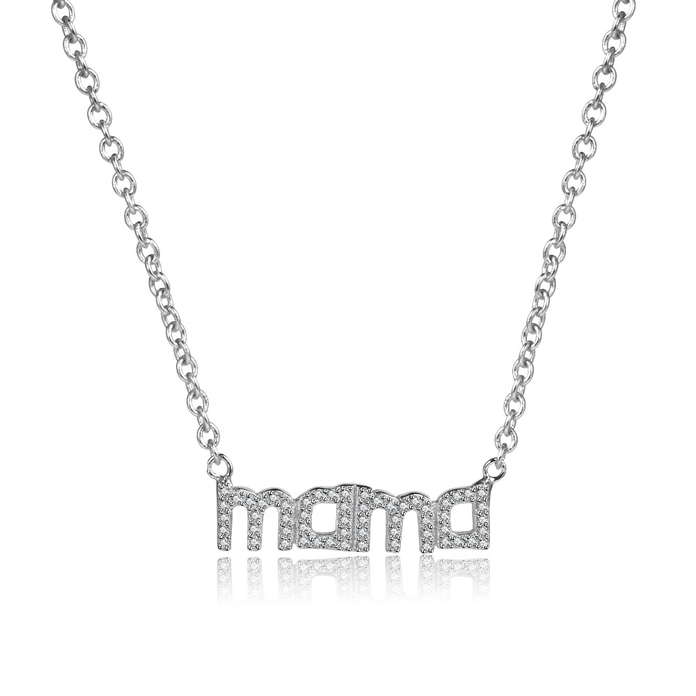 2017 Europe Popular Jewelry 925 Sterling Silver Mama Pendant & Necklace For Mom Silver N ...