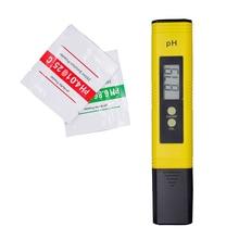Nova Protable LCD Caneta Digital PH Medidor de Urina de calibração automática do Vinho Tester precisão 0.01 Aquário Piscina de Água 15% de desconto
