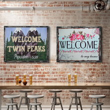 Welcome Twin Peaks Vintage Metal Plate Tin Signs Wall Poster Decals Plate Painting Bar Club Pub Home Decor Wall 30*20cm