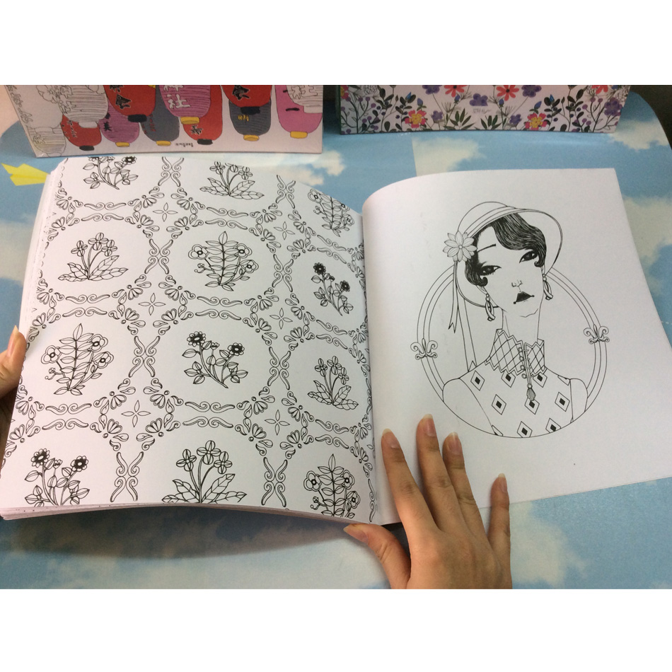 Image 4 - 96 pages Korea Dream Girl Coloring Books For adults Colouring Book Graffiti Painting libro colorear adultos art coloring books-in Books from Office & School Supplies