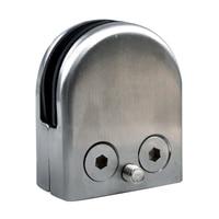 12X Stainless Steel Glass Clamp Holder For Window Balustrade Handrail 52*43*24 mm