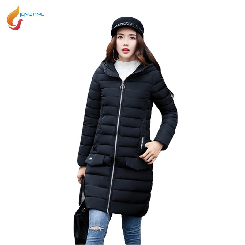 JQNZHNL Women Outerwear Jackets 2017 New Medium Long Casual Down Cotton Coats Female Warm Thicken Cotton Coat Winter Parkas L443 winter jackets coats new down cotton jacket women parkas thicken hooded outerwear slim large size medium long female coat k616