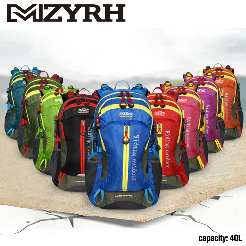 MZYRH Bicycle Riding Backpack MTB Outdoor Equipment 40L Waterproof Men Women Cycling Hiking Climbing Bags Bike BMX Accessories bicycle backpack mtb outdoor enquipment 40 l suspension breathable panniers cycling backpack climbing riding bicycle bike bag