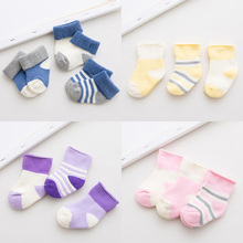 3Pair/lot cotton thick baby socks children 0-3 years old baby foot sock