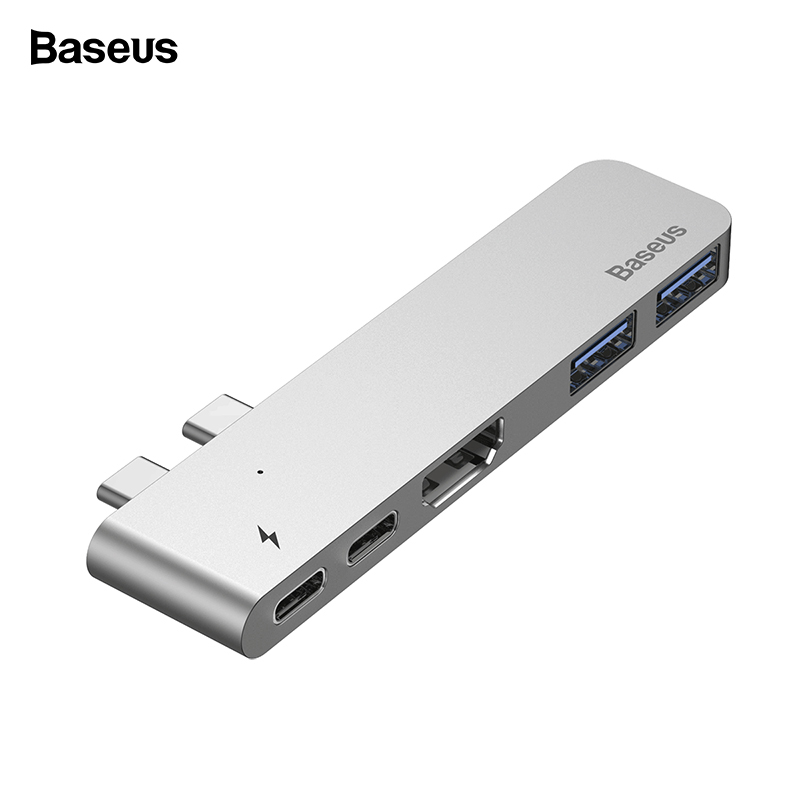 Baseus USB C HUB Type-c To HDMI USB 3.1 3.0 USBC Power Adapter Thunderbolt 3 USB Type C Hub For Macbook Pro Air USB-C Splitter