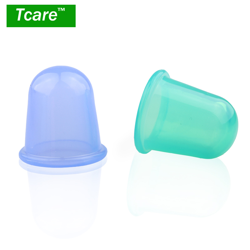 * Tcare 1 Pcs Health Care Body Beauty Silicone Vacuum Cupping Cups Neck Face Back Massage Cupping Cups Relax Full Body Massage 1pcs silicone health care face eye anti age cupping cups facial lifting massage silicone cupping cups health care