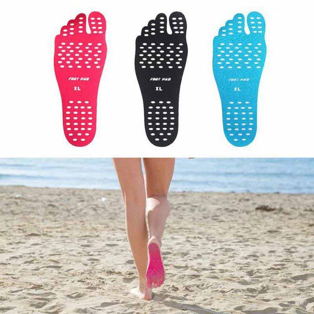 2017 Sticker Shoes Stick on Soles Sticky Pads for Feet beach sock waterproof Hypoallergenic adhesive pad for Feet J2