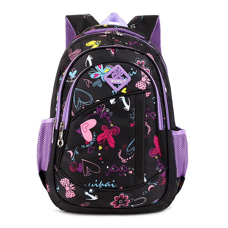 Cute Girls Floral Printing Elementary School Outdoor Bag Backpack Trendy  Children Kids Backpack Book Bag Student Satchel-in Climbing Bags from  Sports ... 8377e0a4d3be3