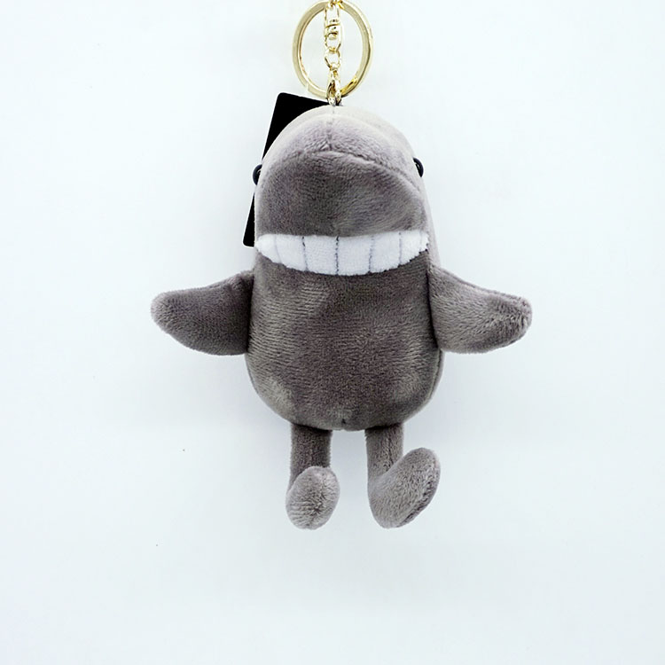 Bucktooth Shark Doll Key Chains Key Ring fragrance Plush Bag Accessory Charms Pendants Mini Stuffed Toy Car Auto Keychain Gift