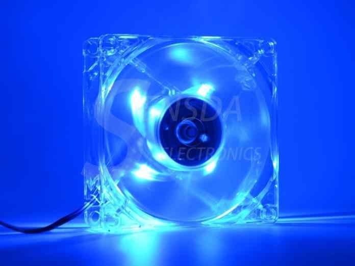 Komputer stancjonarny 80mm wentylator z 4ea led 8025 8cm cichy DC 12V LED luminous podwozie molex 4D wtyczka wentylator osiowy