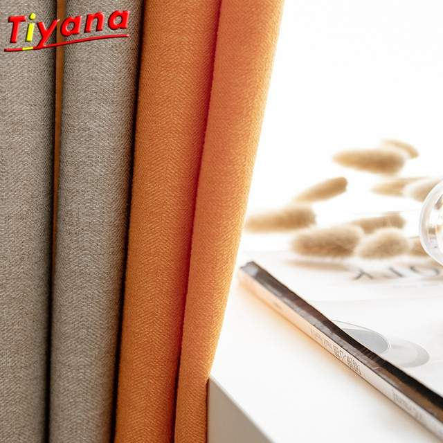 Blackout Curtains for the Bedroom Solid Colors Curtains for the Living Room  Window Orange Gold Curtains Blinds Customized S11*40
