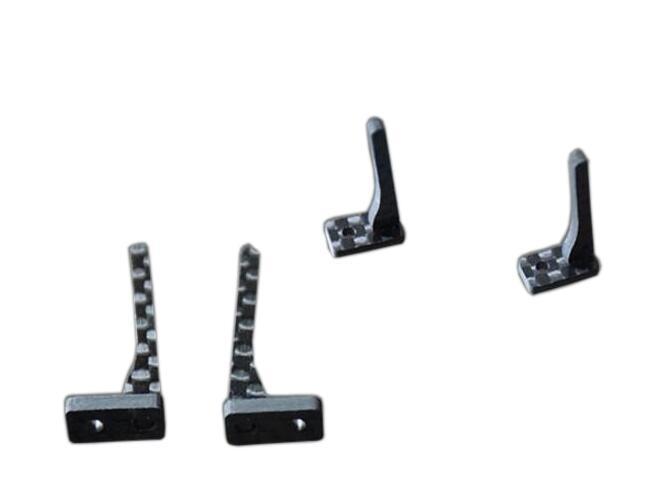 RC MINI 4WD Tamiya 2mm carbon fibre The top rail Self made Parts 4 pcs 1