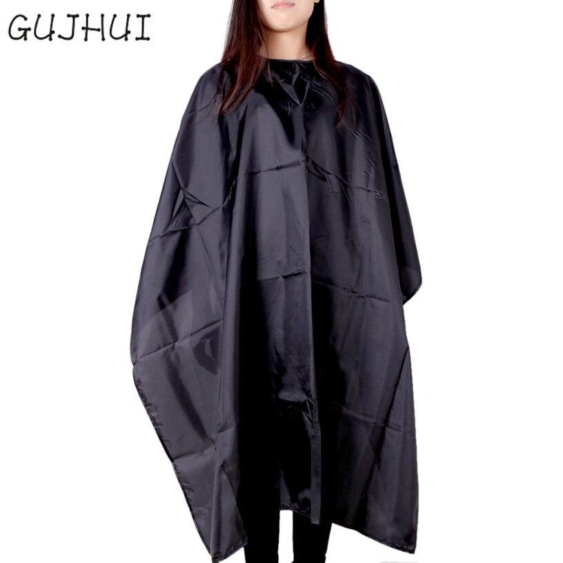 Best Deal GUJHUI Good Quality Cutting Hair Waterproof Cloth Salon Barber Gown Cape Haird ...
