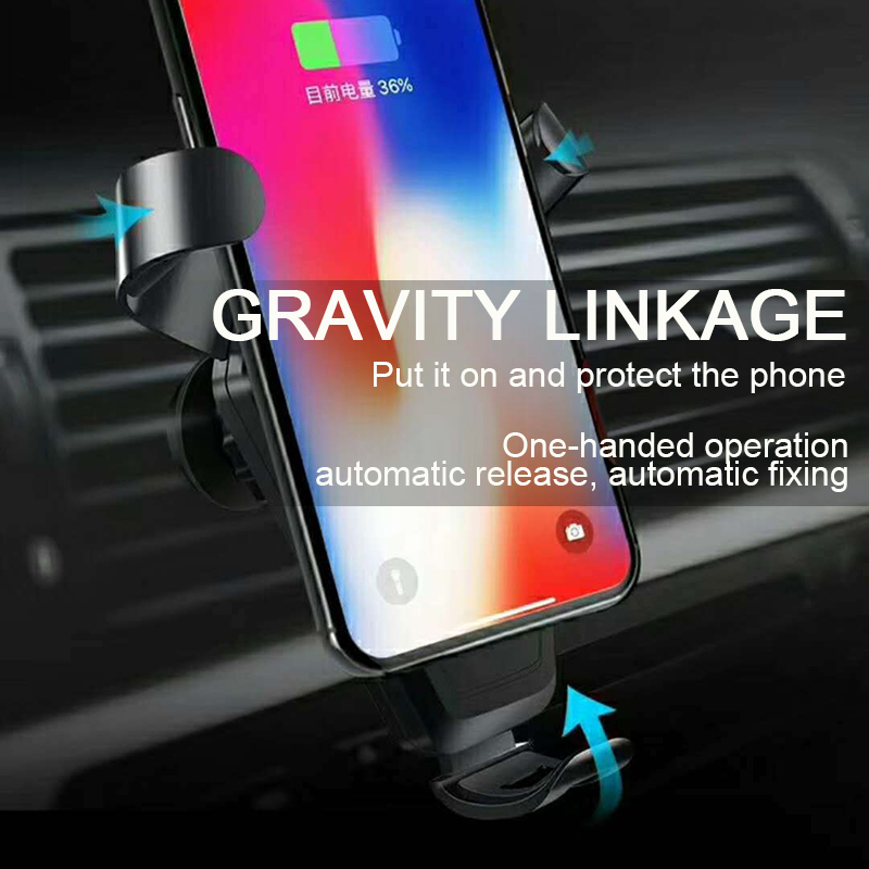 Car Wireless Charger For iPhone X 8 Plus Flash Charger Wireless Qi Wireless Charger Pad Car Holder Stand For Samsung S9 S8