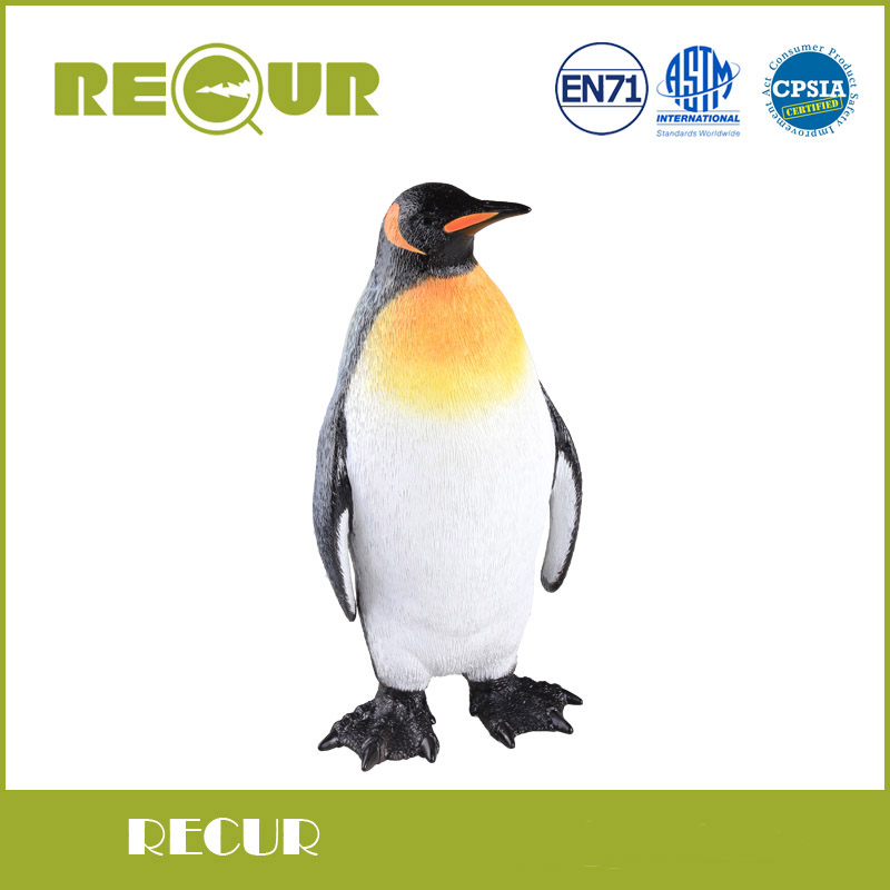 Recur King Penguins Sea Life Model Highly Detailed Hand Painted Soft PVC Animal Collection Action & Toy Figure For Kid Education polar marine animal model toy penguin reindeer polar bear blue whale walrus sea l toy model sets pvc figure