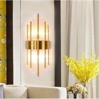 Современный скандинавский хрустальный стеклянный настенный светильник для гостиной светодиодные украшения подсветка стен в коридоре рос