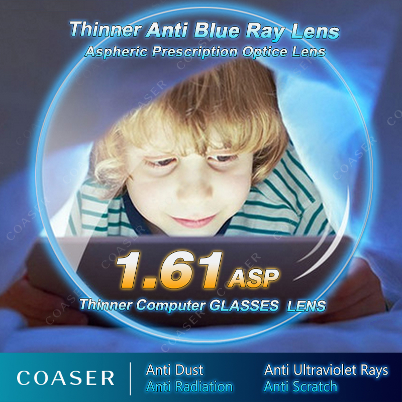 Thinner lighter Anti Blue Ray Lens Myopia Presbyopia Prescription optical Eyewear lens Reading computer glasses lentes