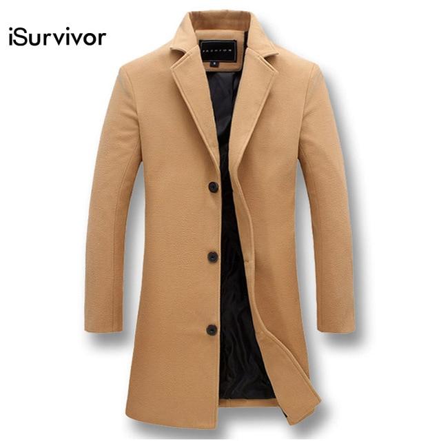 bc35cc0f8c6 Men Fashion Jackets Men Slim Fits Coats Business Mens Long Winter Windproof  Outwears Plus Size 5XL Black Hot Sale High Quality
