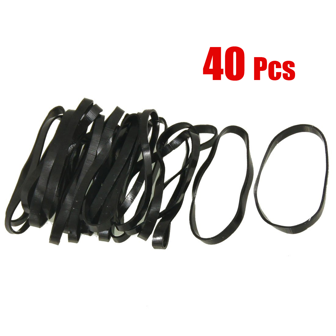 EAS40 Pieces Black Elastic Rubber Band Hair Tie Ponytail Holders ...