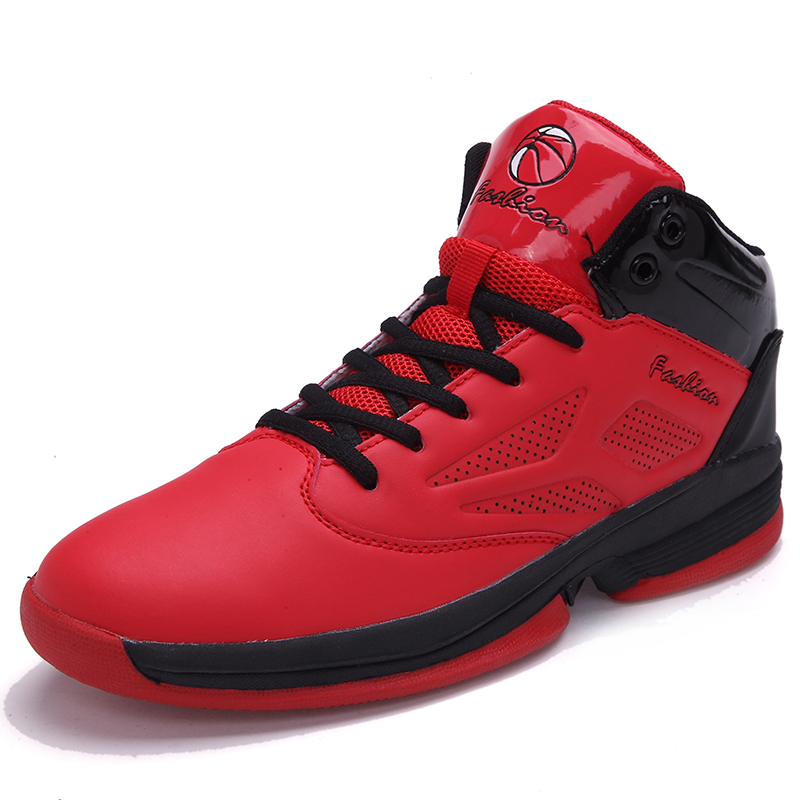 ФОТО Fashion Autumn New 2017 Men Casual Shoes Red Suede Leather Men High Top Casual Shoes Breathable Winter Men Boots Red Botas Black