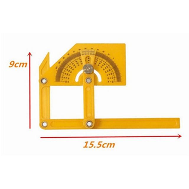 1pc Plastic Multi Angle Ruler Angle Izer Template Tool Protractor