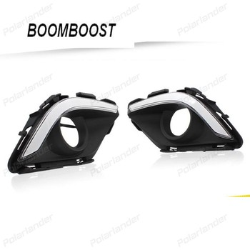 BOOMBOOST 2PCS For Mazda 6 With Foglight 2014-2015 daytime running lights car styling AUTO PARTS