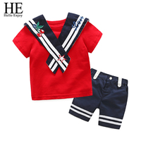 Girls Clothing Sets Children Clothes 2017 Casual Summer New Kids Navy Short Sleeve Shorts Child Suit