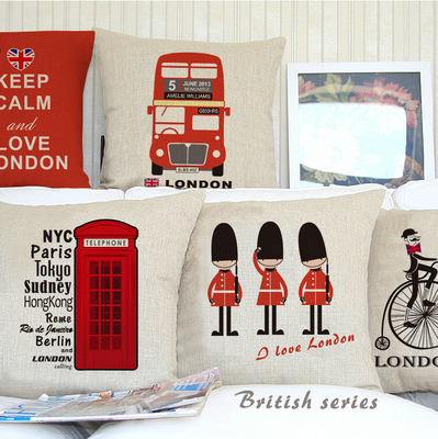 9ee07f550 45x45cm UK London phone booth bus models linen cushion London for sofa car  decorative almofadas cojines decorative pillows