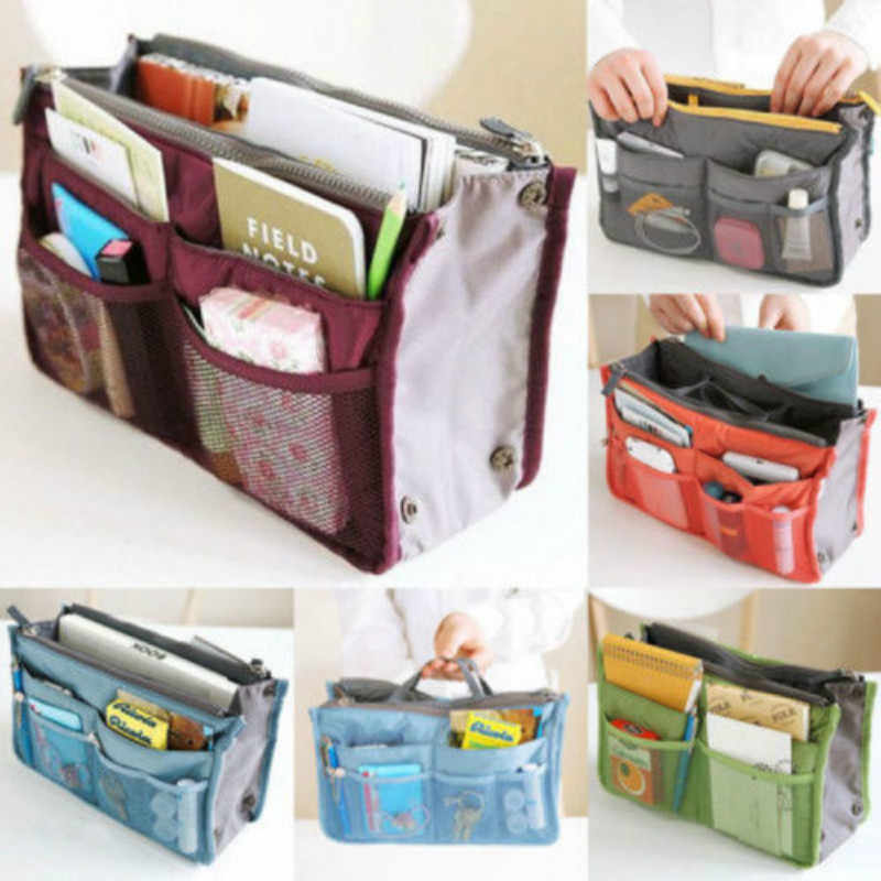 Women Lady Travel Insert Handbag Organiser Purse Large Liner Organizer Tidy Bag Storage Bags