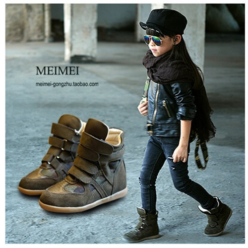 ФОТО new 2016 children sneakers children shoes kids sneakers girls shoes boys Free Shipping Cowhide Breathable Fashion 1-1071