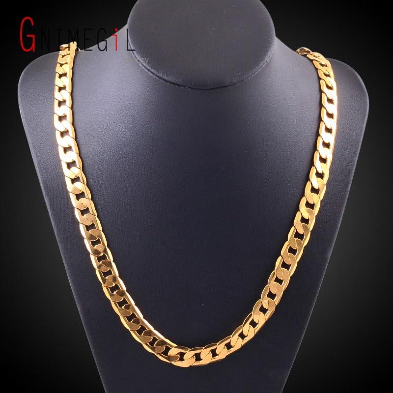 "GNIMEGIL Miami Cuban Link Chain Necklace 10mm 20"" Gold ..."