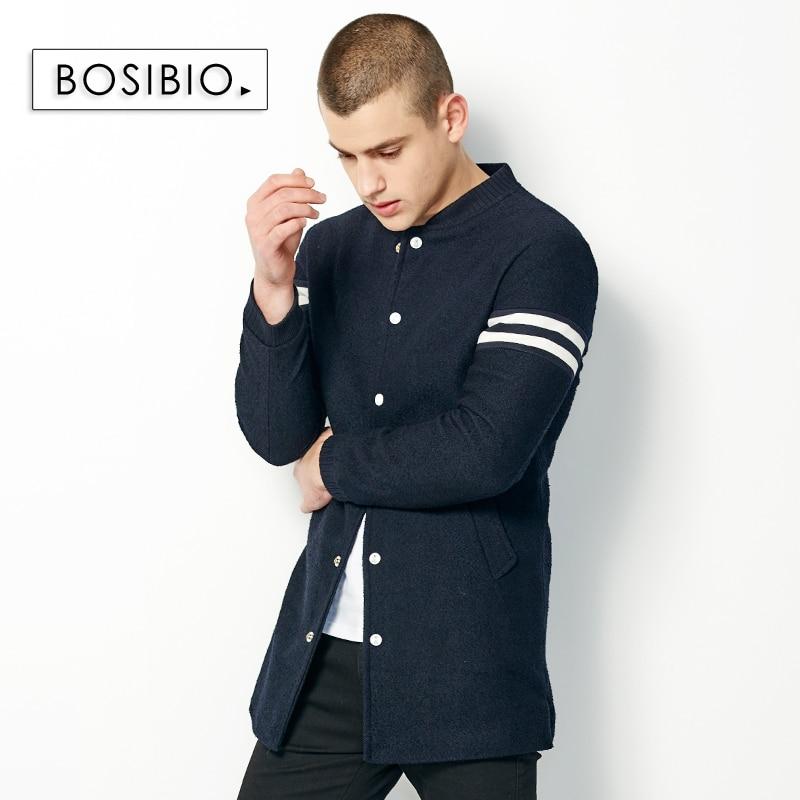 2017 herbst Frühling Lange Trenchcoat Mode Männer Dünne Dunkle blau Mantel Hohe Qualität männer Slim Einreiher Jacke Mantel 9003-in Trench aus Herrenbekleidung bei  Gruppe 1